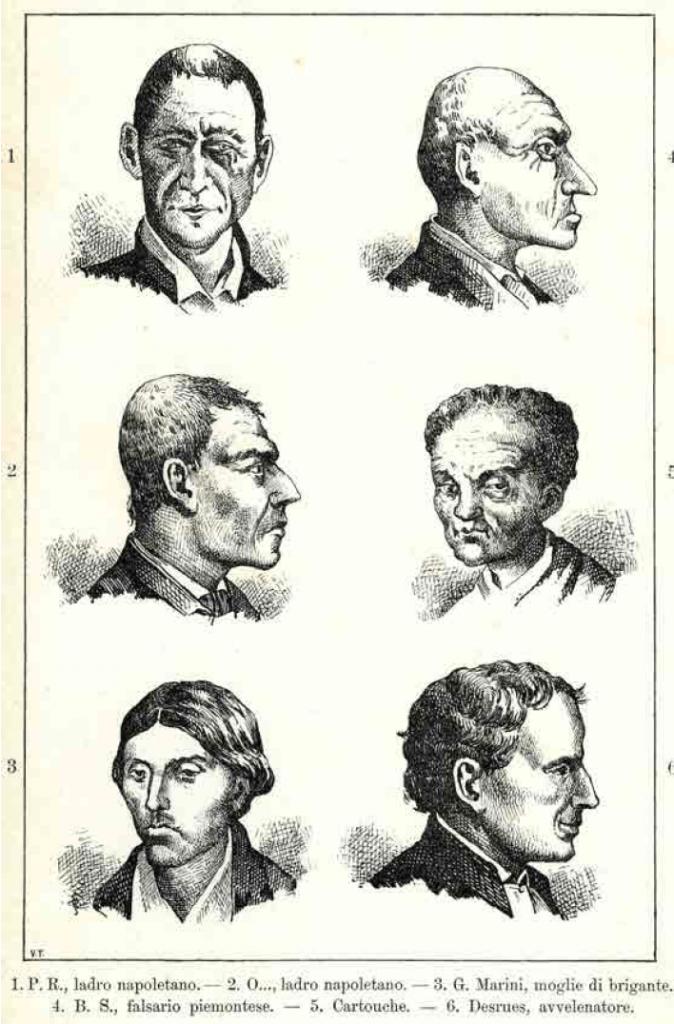 Forbryderes hoveder i Lombrosos bog